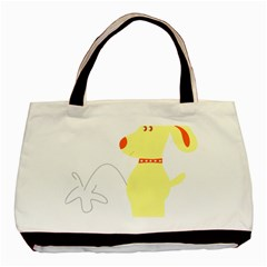 Mutt Dog Animal Domestic Vector Basic Tote Bag