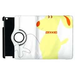 Mutt Dog Animal Domestic Vector Apple Ipad 3/4 Flip 360 Case