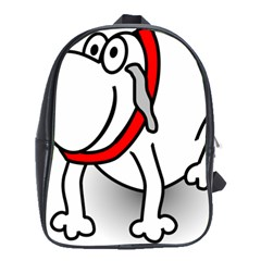 Dog Animal Pet Grin Sit Happy School Bag (large)
