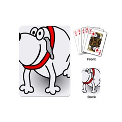 Dog Animal Pet Grin Sit Happy Playing Cards (mini)