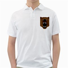 Bear Brown Set Paw Isolated Icon Golf Shirts
