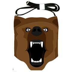 Bear Brown Set Paw Isolated Icon Shoulder Sling Bags by Nexatart