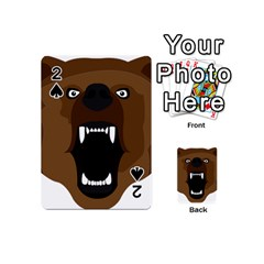 Bear Brown Set Paw Isolated Icon Playing Cards 54 (mini)  by Nexatart