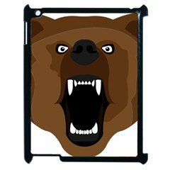 Bear Brown Set Paw Isolated Icon Apple Ipad 2 Case (black) by Nexatart