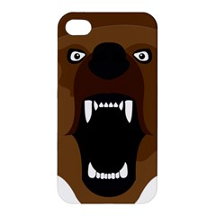 Bear Brown Set Paw Isolated Icon Apple Iphone 4/4s Premium Hardshell Case