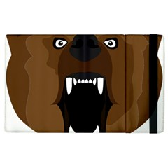Bear Brown Set Paw Isolated Icon Apple Ipad 3/4 Flip Case by Nexatart