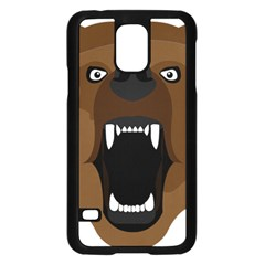 Bear Brown Set Paw Isolated Icon Samsung Galaxy S5 Case (black)