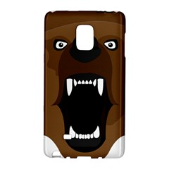 Bear Brown Set Paw Isolated Icon Galaxy Note Edge