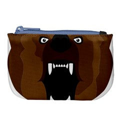 Bear Brown Set Paw Isolated Icon Large Coin Purse by Nexatart