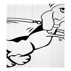 Dog Leash Lead Running Animal Shower Curtain 66  X 72  (large)  by Nexatart