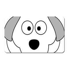 Animal Cartoon Colour Dog Magnet (rectangular)