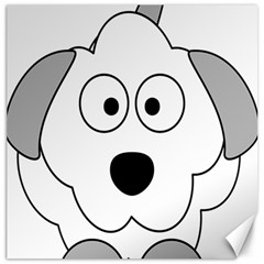 Animal Cartoon Colour Dog Canvas 20  X 20   by Nexatart