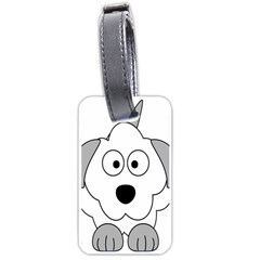 Animal Cartoon Colour Dog Luggage Tags (one Side)  by Nexatart