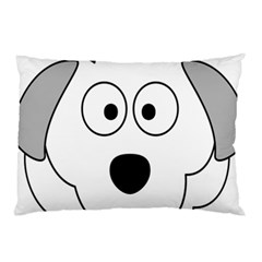Animal Cartoon Colour Dog Pillow Case (two Sides) by Nexatart