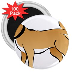 Dog Brown Pet Animal Tail Eskimo 3  Magnets (100 Pack) by Nexatart
