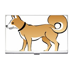 Dog Brown Pet Animal Tail Eskimo Business Card Holders by Nexatart