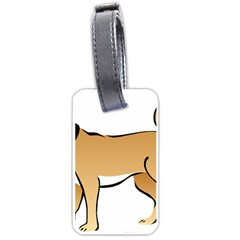 Dog Brown Pet Animal Tail Eskimo Luggage Tags (two Sides) by Nexatart