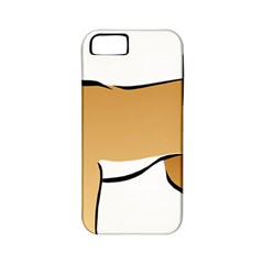 Dog Brown Pet Animal Tail Eskimo Apple Iphone 5 Classic Hardshell Case (pc+silicone)