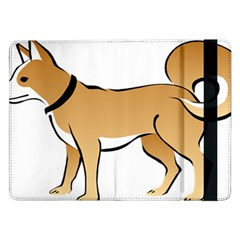 Dog Brown Pet Animal Tail Eskimo Samsung Galaxy Tab Pro 12 2  Flip Case