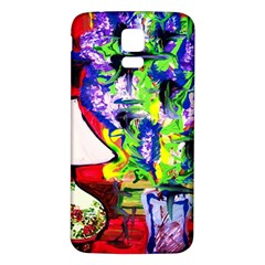 Lilac, Lamp And Curtain Window 1 Samsung Galaxy S5 Back Case (white) by bestdesignintheworld