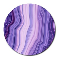 Marbled Ultra Violet Round Mousepads by 8fugoso