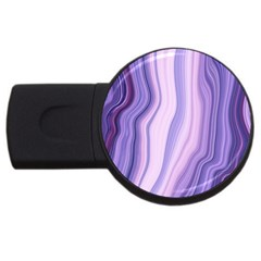 Marbled Ultra Violet Usb Flash Drive Round (4 Gb)