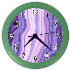 Marbled Ultra Violet Color Wall Clocks