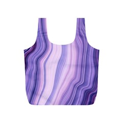 Marbled Ultra Violet Full Print Recycle Bags (s)