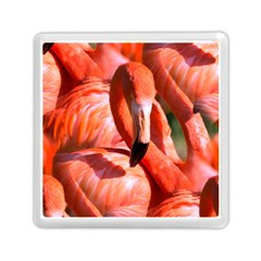 Pink Flamingo Flock Pattern Memory Card Reader (square)  by CrypticFragmentsColors