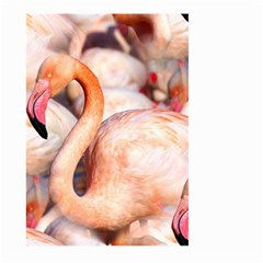 Pink Flamingos Flock Large Garden Flag (two Sides) by CrypticFragmentsColors