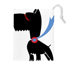 Dog Scottish Terrier Scottie Drawstring Pouches (extra Large)