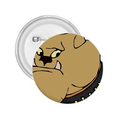 Bulldog Dog Head Canine Pet 2 25  Buttons