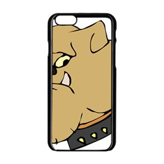 Bulldog Dog Head Canine Pet Apple Iphone 6/6s Black Enamel Case