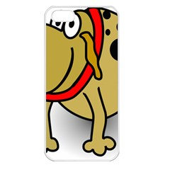 Dog Brown Spots Black Cartoon Apple Iphone 5 Seamless Case (white)