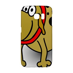 Dog Brown Spots Black Cartoon Galaxy S6 Edge by Nexatart