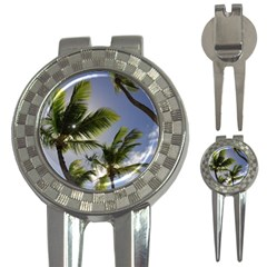 Palm Trees Tropical Beach Scenes Coastal   3 In 1 Golf Divots by CrypticFragmentsColors
