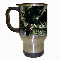 Palm Trees Tropical Beach Scenes Coastal   Travel Mugs (white) by CrypticFragmentsColors