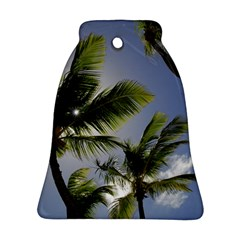 Palm Trees Tropical Beach Scenes Coastal   Bell Ornament (two Sides)