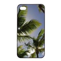 Palm Trees Tropical Beach Scenes Coastal   Apple Iphone 4/4s Seamless Case (black) by CrypticFragmentsColors