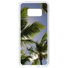 Palm Trees Tropical Beach Scenes Coastal   Samsung Galaxy S8 White Seamless Case by CrypticFragmentsColors