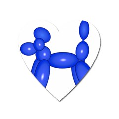 Poodle Dog Balloon Animal Clown Heart Magnet by Nexatart