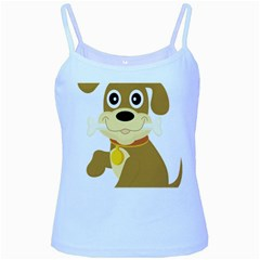 Dog Doggie Bone Dog Collar Cub Baby Blue Spaghetti Tank
