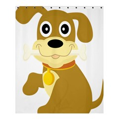 Dog Doggie Bone Dog Collar Cub Shower Curtain 60  X 72  (medium)