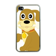 Dog Doggie Bone Dog Collar Cub Apple Iphone 4 Case (clear)