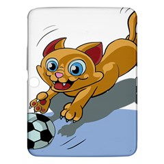Cat Ball Play Funny Game Playing Samsung Galaxy Tab 3 (10 1 ) P5200 Hardshell Case  by Nexatart