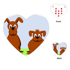 Animals Dogs Mutts Dog Pets Playing Cards (heart)