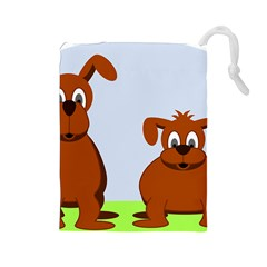 Animals Dogs Mutts Dog Pets Drawstring Pouches (large)  by Nexatart