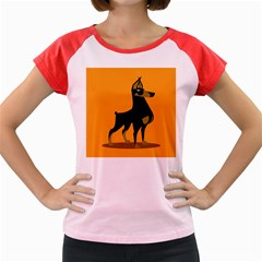 Illustration Silhouette Art Mammals Women s Cap Sleeve T Shirt