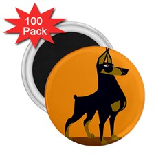 Illustration Silhouette Art Mammals 2 25  Magnets (100 Pack)  by Nexatart