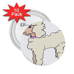 Poodle Dog Breed Cute Adorable 2 25  Buttons (10 Pack)